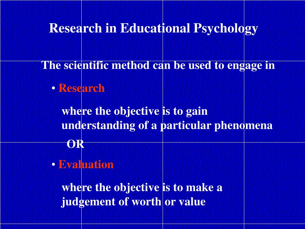 Research in Educational Psychology
