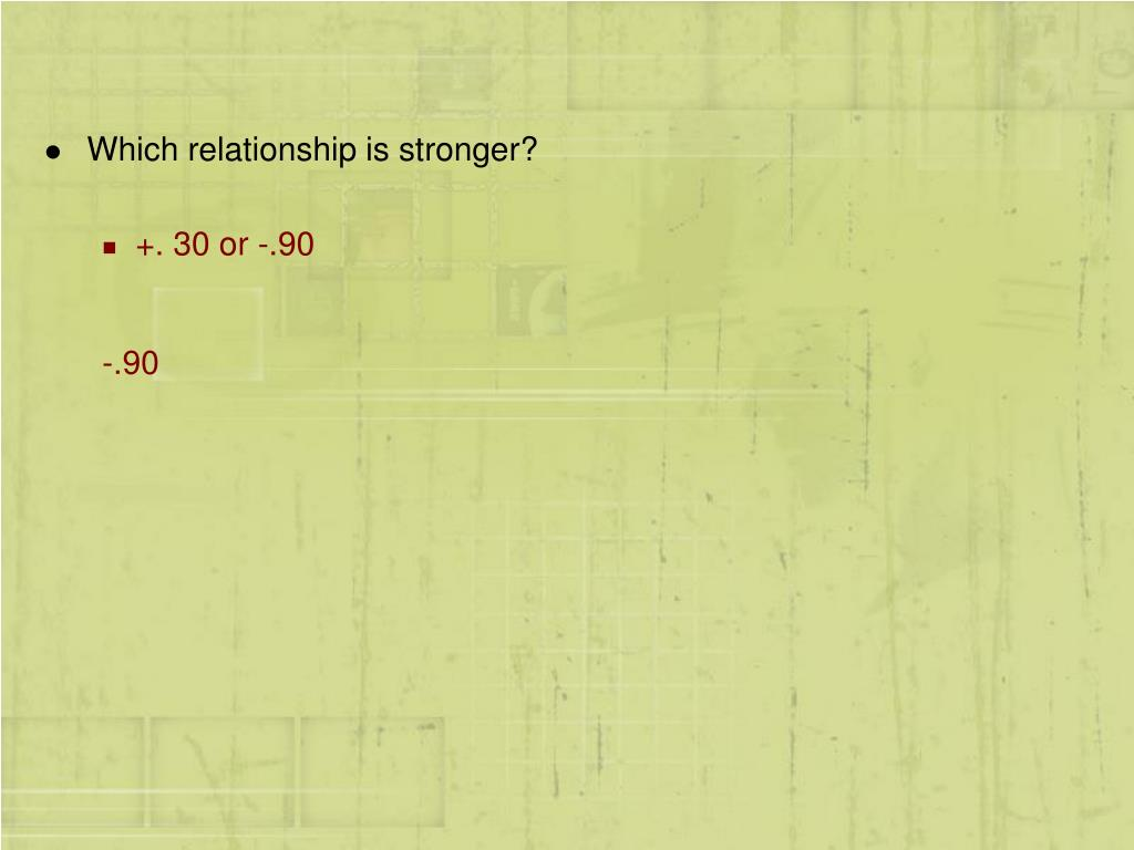 Which relationship is stronger?
