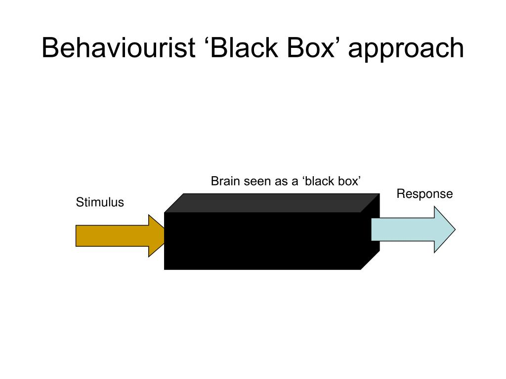 Behaviourist 'Black Box' approach