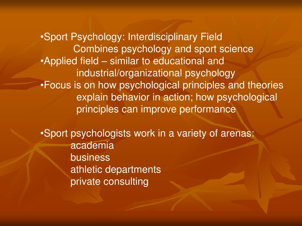 Sport Psychology: Interdisciplinary Field