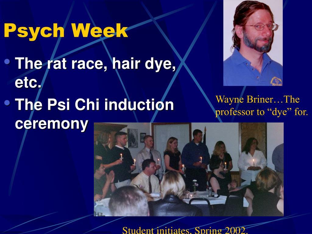 Psych Week