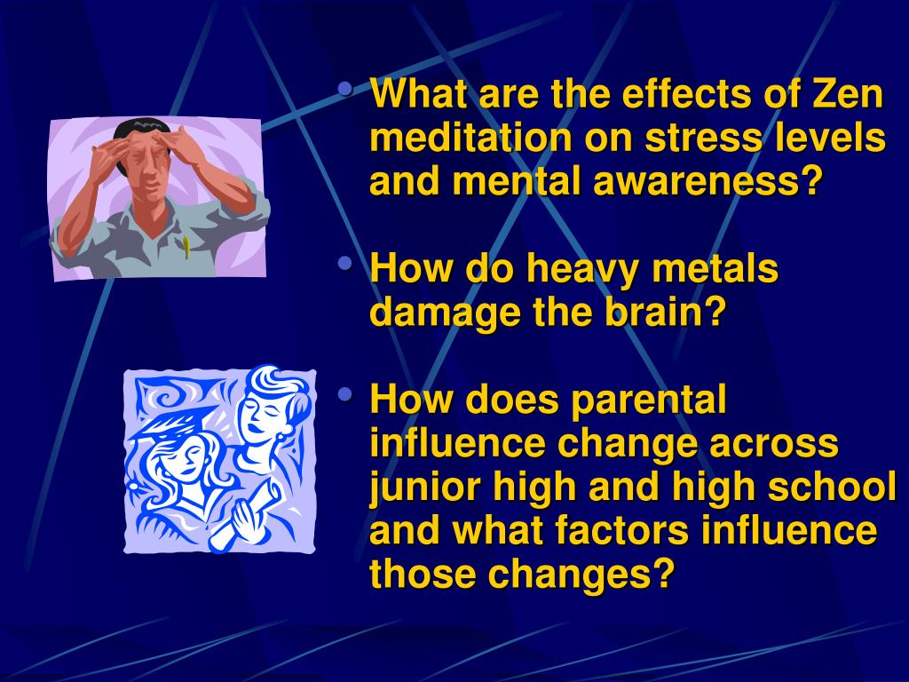 What are the effects of Zen meditation on stress levels and mental awareness?
