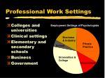 professional work settings