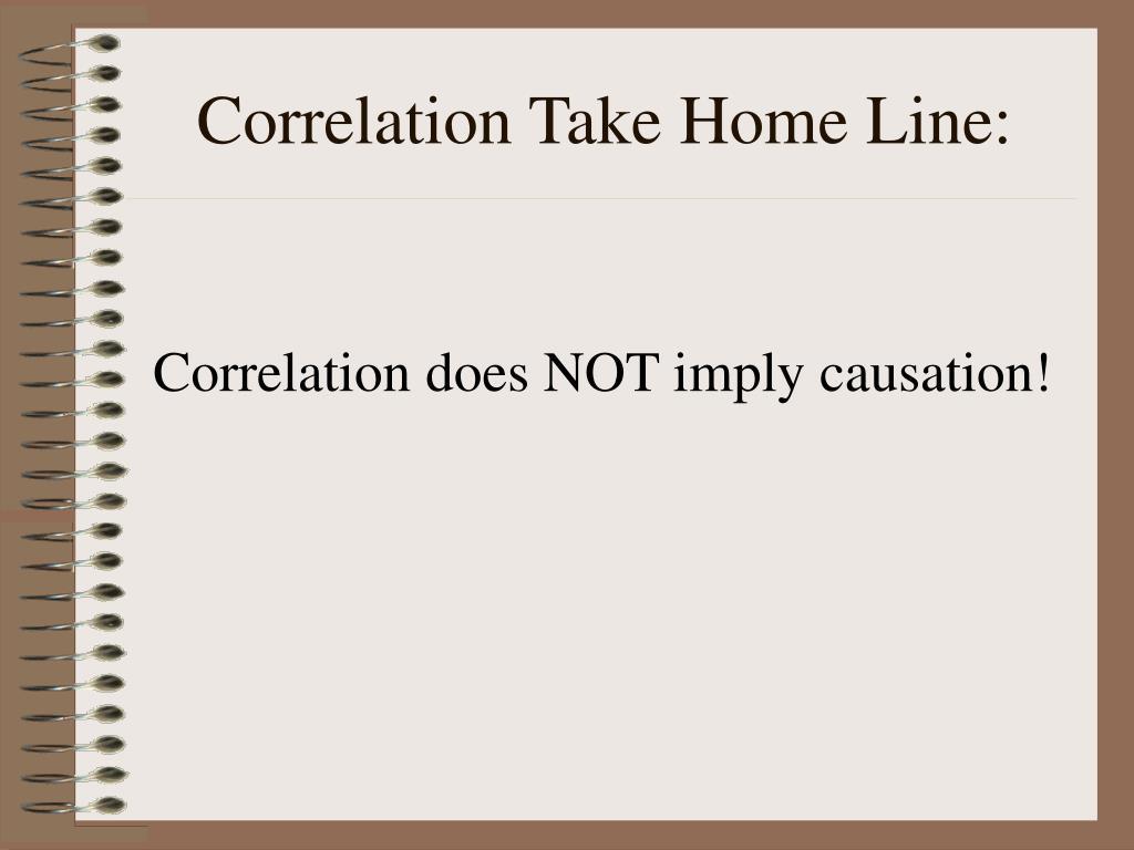 Correlation Take Home Line: