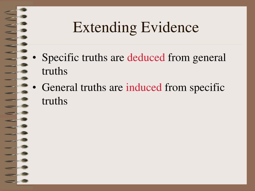 Extending Evidence