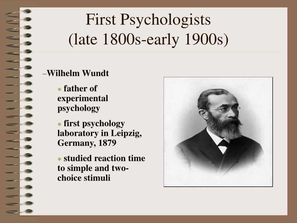 First Psychologists