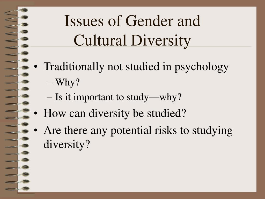 Issues of Gender and