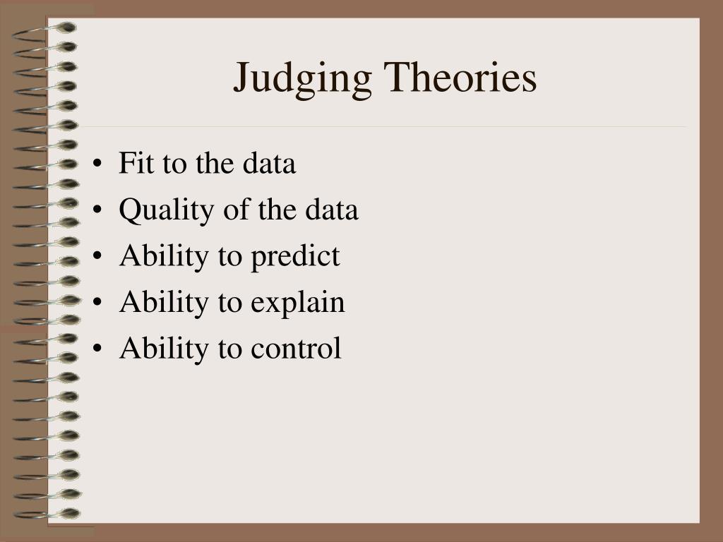 Judging Theories