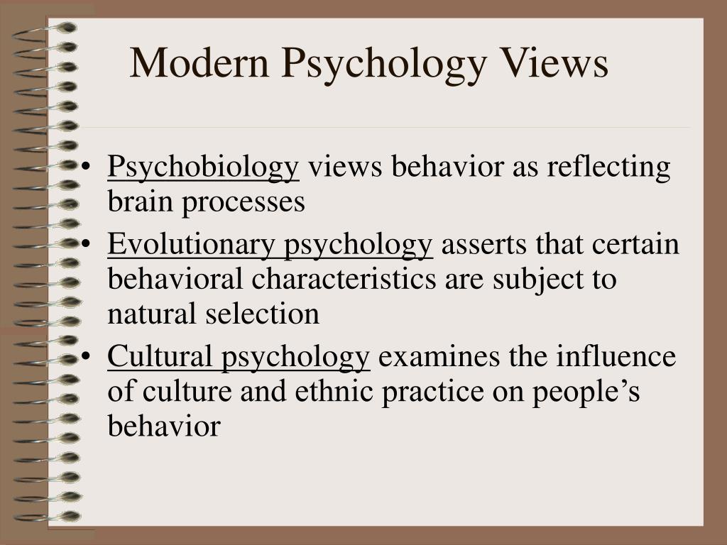 Modern Psychology Views