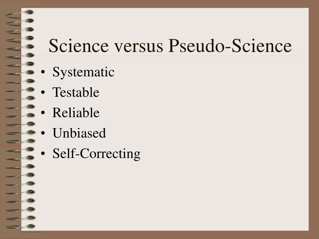Science versus Pseudo-Science