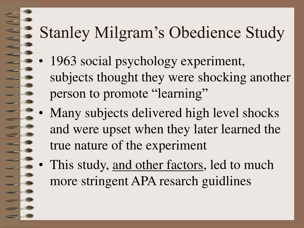 Stanley Milgram's Obedience Study