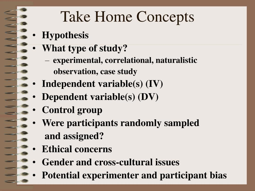 Take Home Concepts