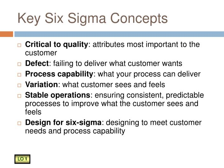 Key six sigma concepts