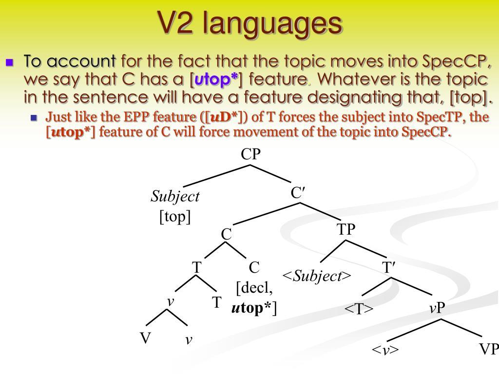 V2 languages