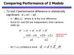 comparing performance of 2 models95