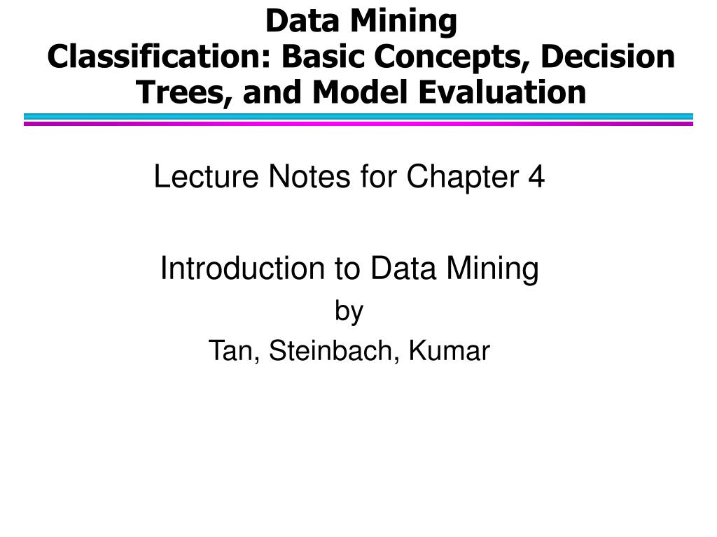 data mining classification basic concepts decision trees and model evaluation
