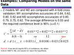 example1 comparing models on the same data
