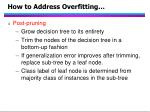 how to address overfitting61