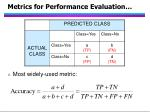 metrics for performance evaluation78