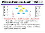 minimum description length mdl