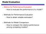 model evaluation76