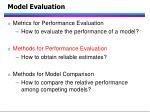 model evaluation84