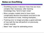 notes on overfitting