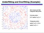 underfitting and overfitting example