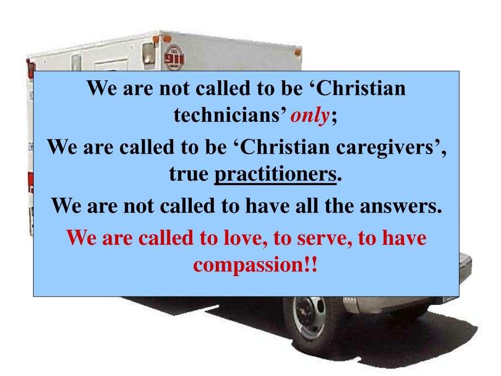 We are not called to be 'Christian technicians'