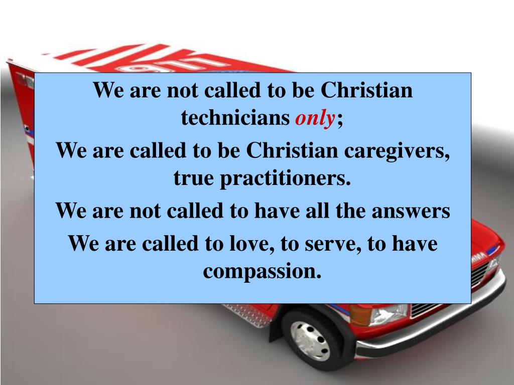 We are not called to be Christian technicians