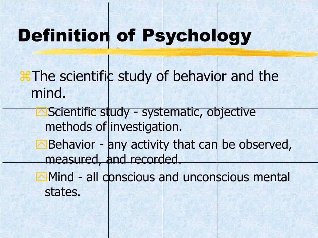 Definition of Psychology