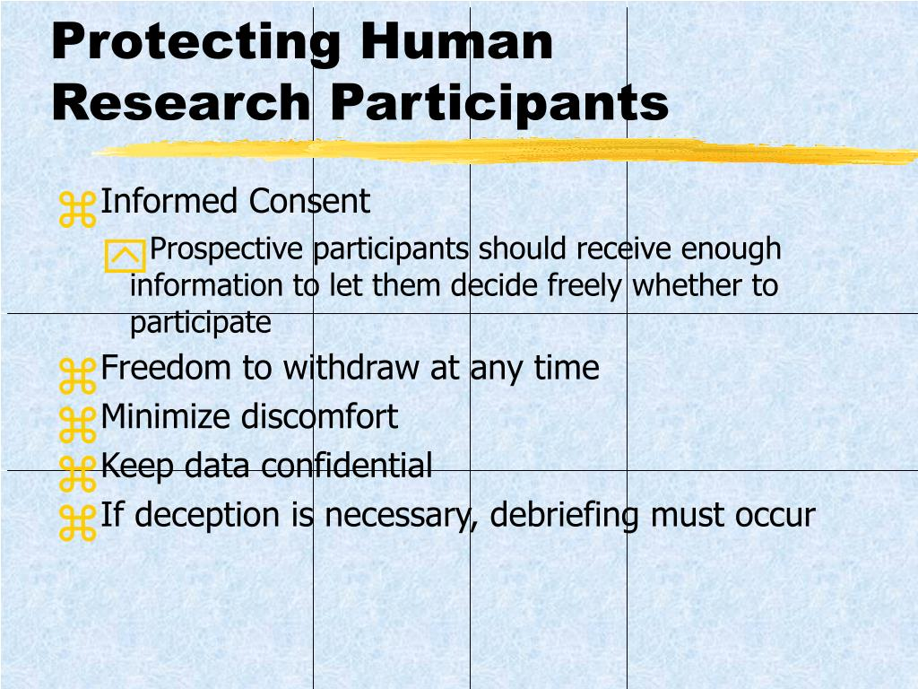 Protecting Human Research Participants