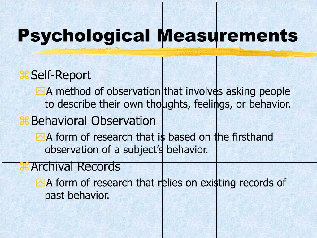 Psychological Measurements