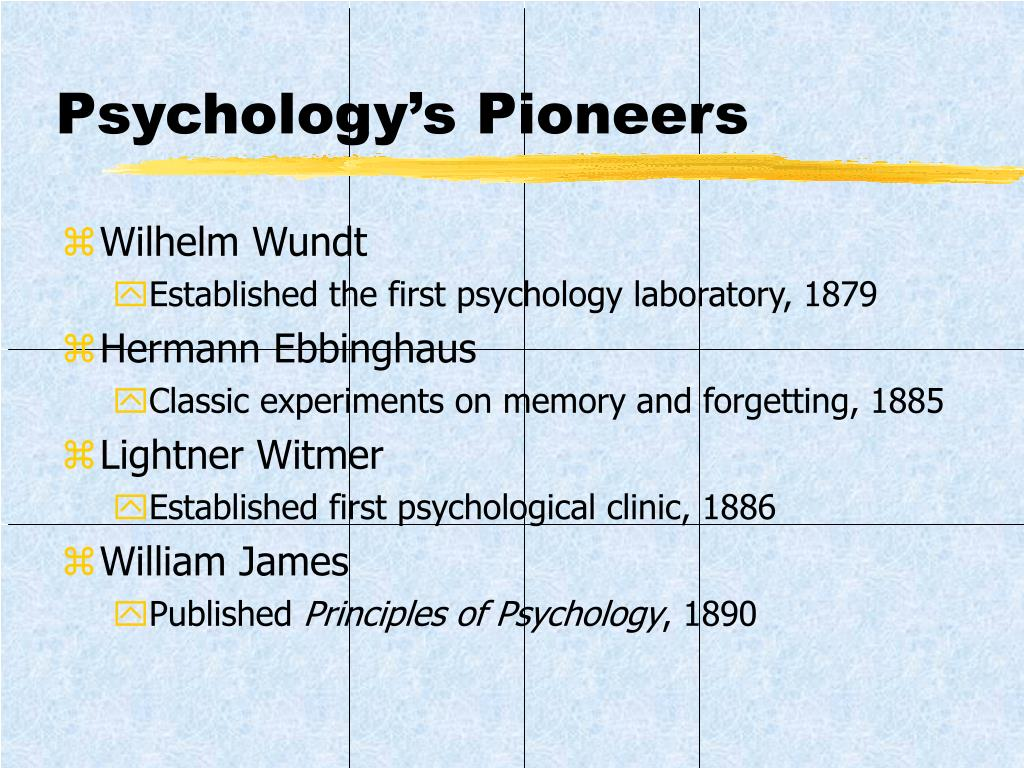 Psychology's Pioneers