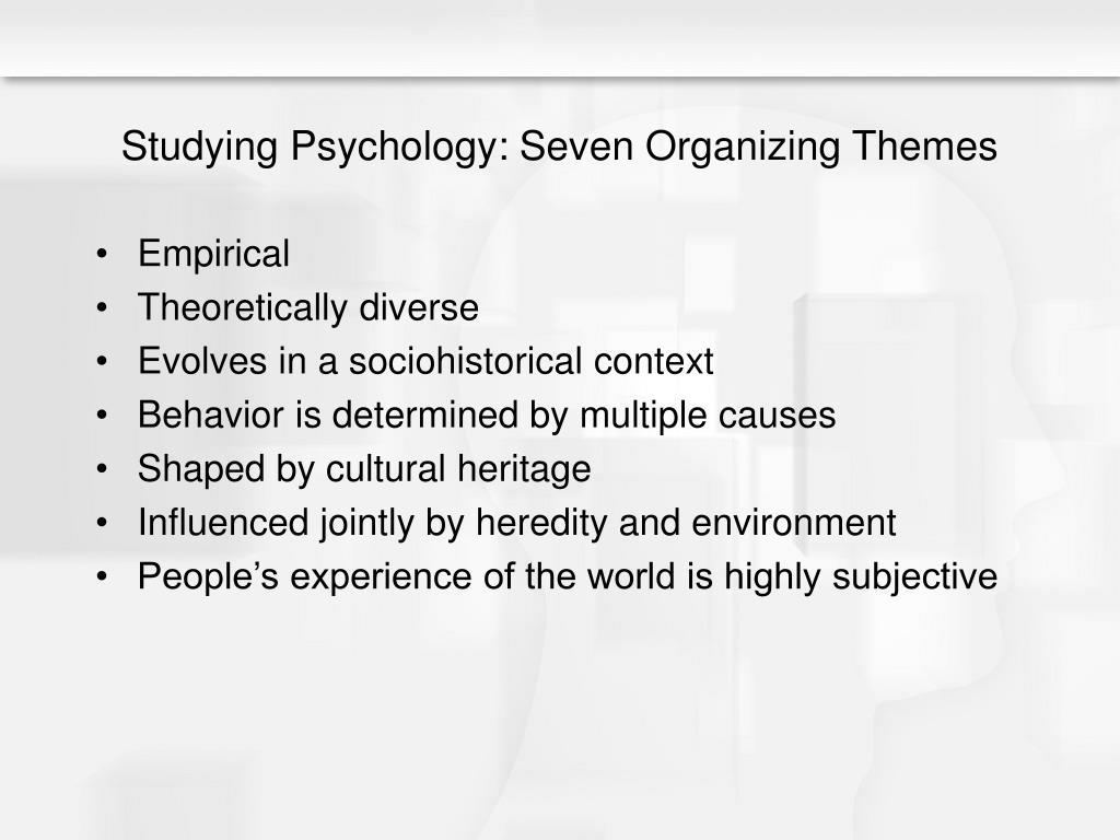 Studying Psychology: Seven Organizing Themes