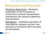 behaviorism and personality20