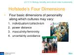 hofstede s four dimensions