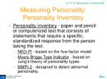 measuring personality personality inventory