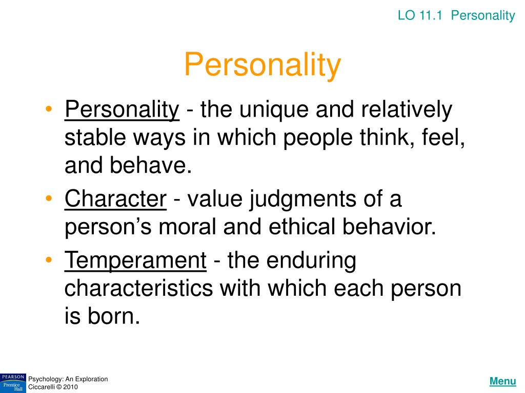 LO 11.1  Personality