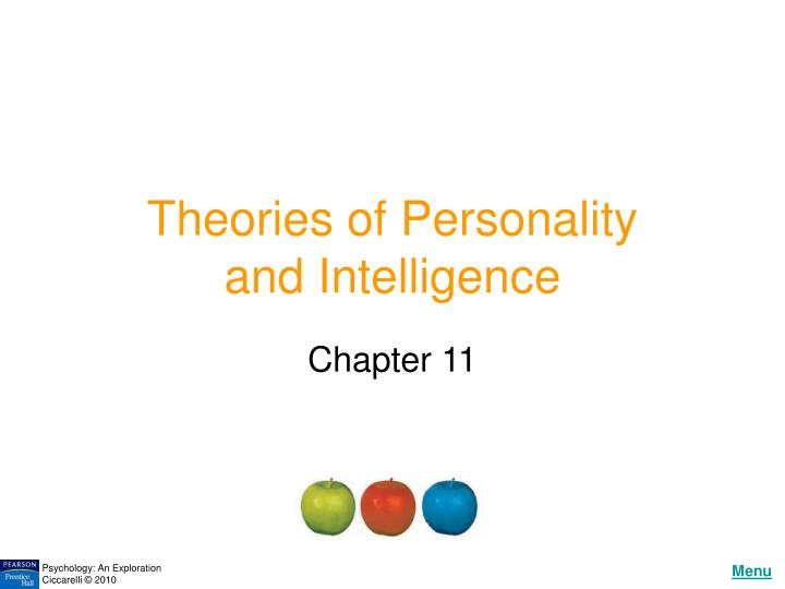 Theories of personality and intelligence