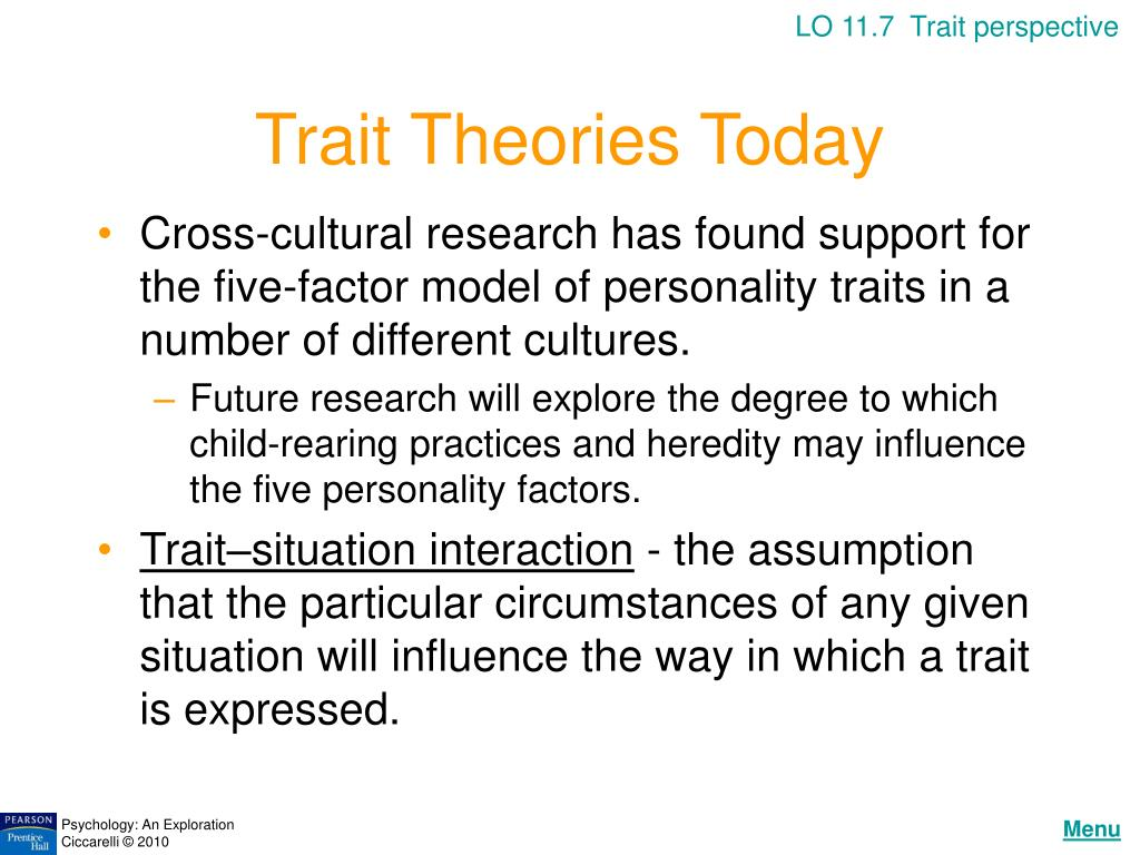 LO 11.7  Trait perspective