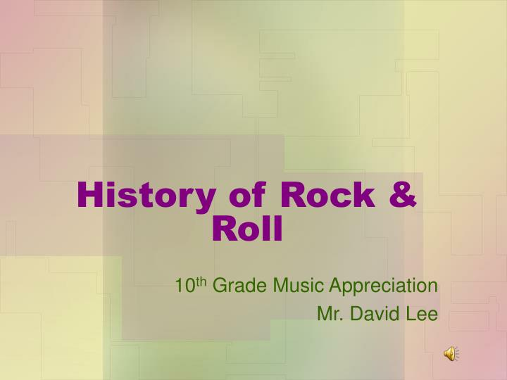 History of rock roll