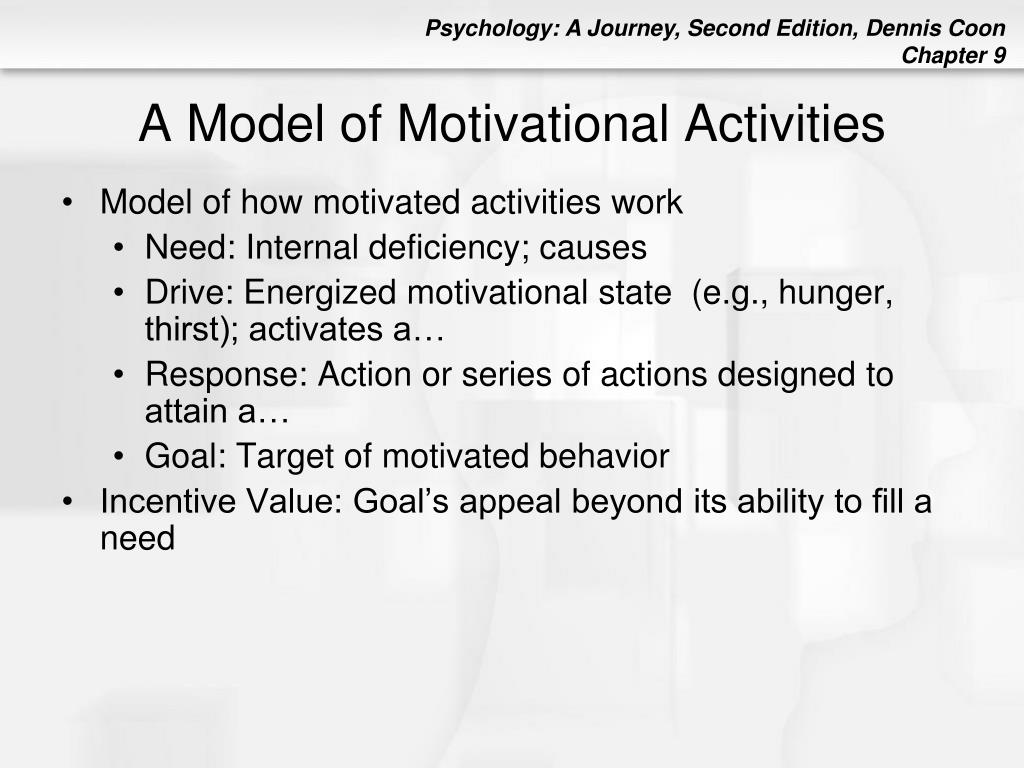 A Model of Motivational Activities