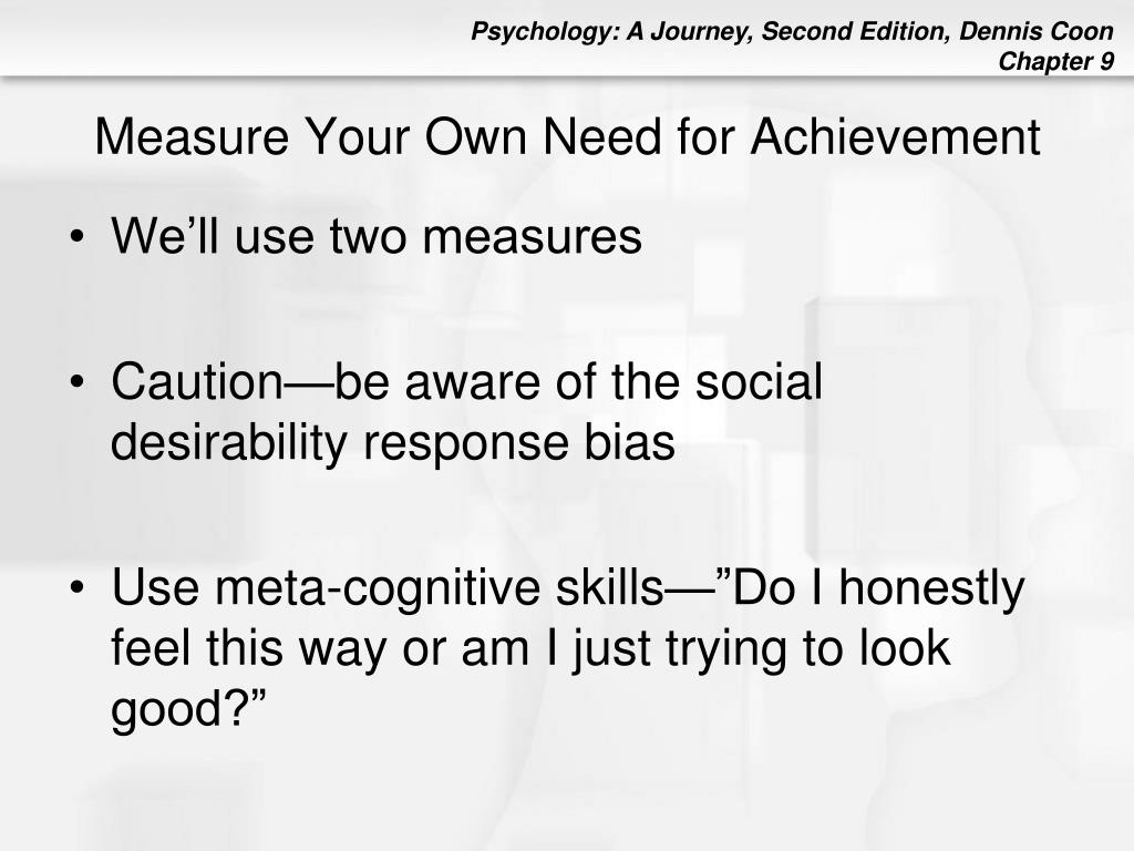 Measure Your Own Need for Achievement