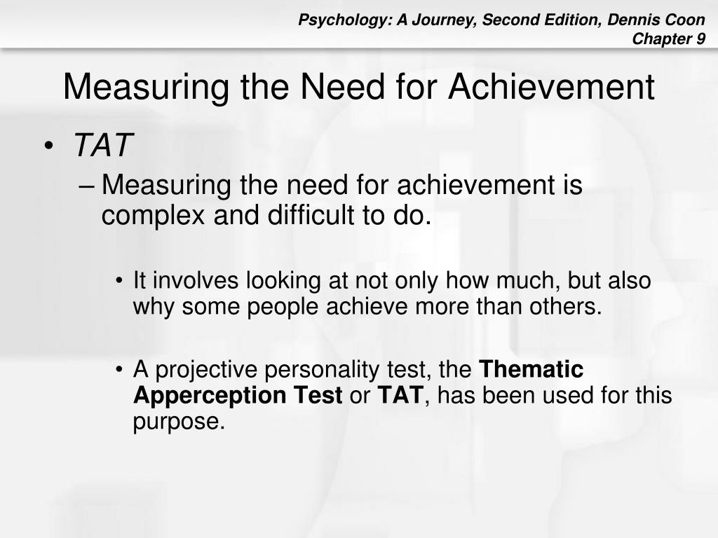 Measuring the Need for Achievement