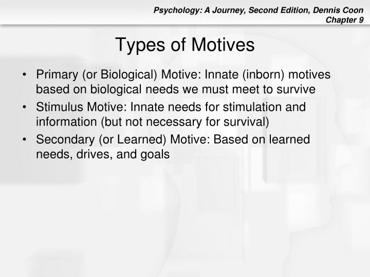 Types of motives