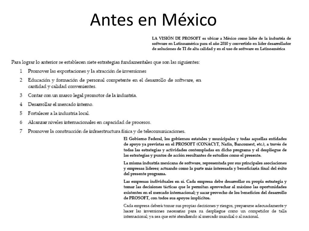 Antes en México