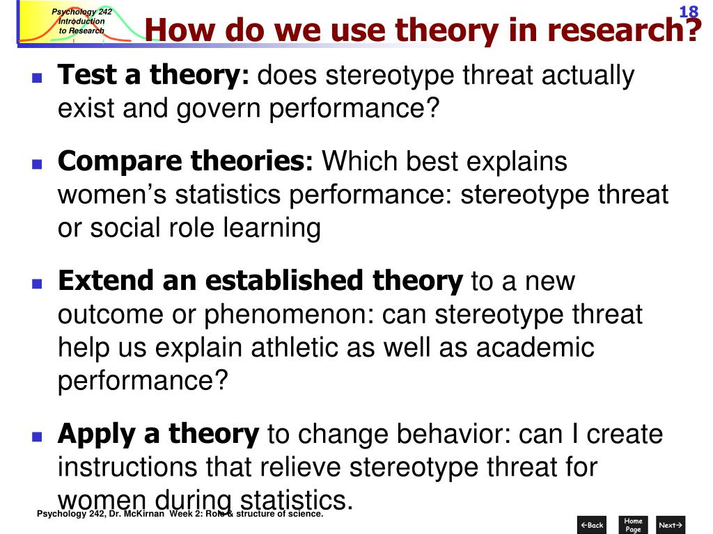 How do we use theory in research?