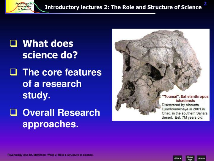 Introductory lectures 2 the role and structure of science