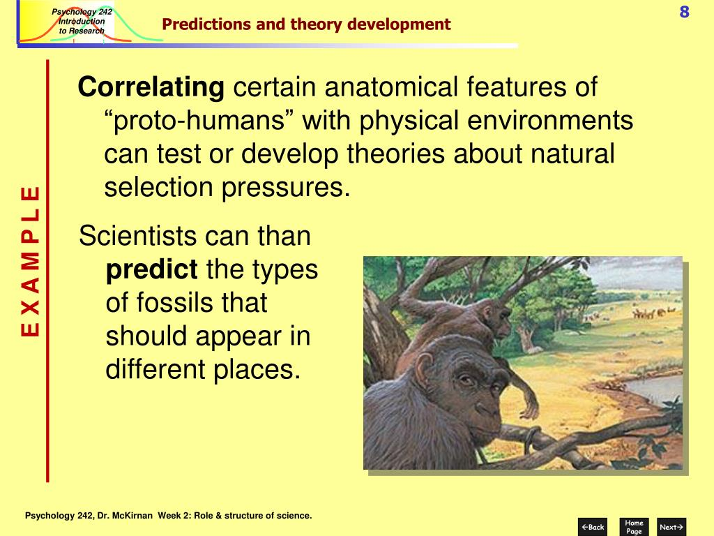 Predictions and theory development
